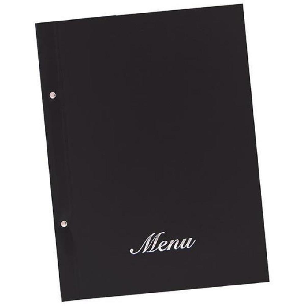 Κατάλογος εστιατορίου Α4 με βίδες basic μαύρο