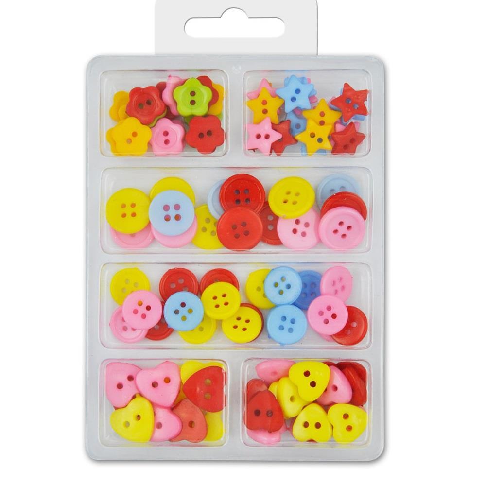Κουμπιά πλαστικά Meyco διάφορα σχέδια 99 τεμ. 132-83