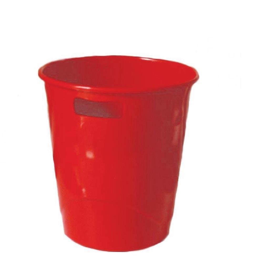 Καλάθι αχρήστων πλαστικό Ark κόκκινο 9L