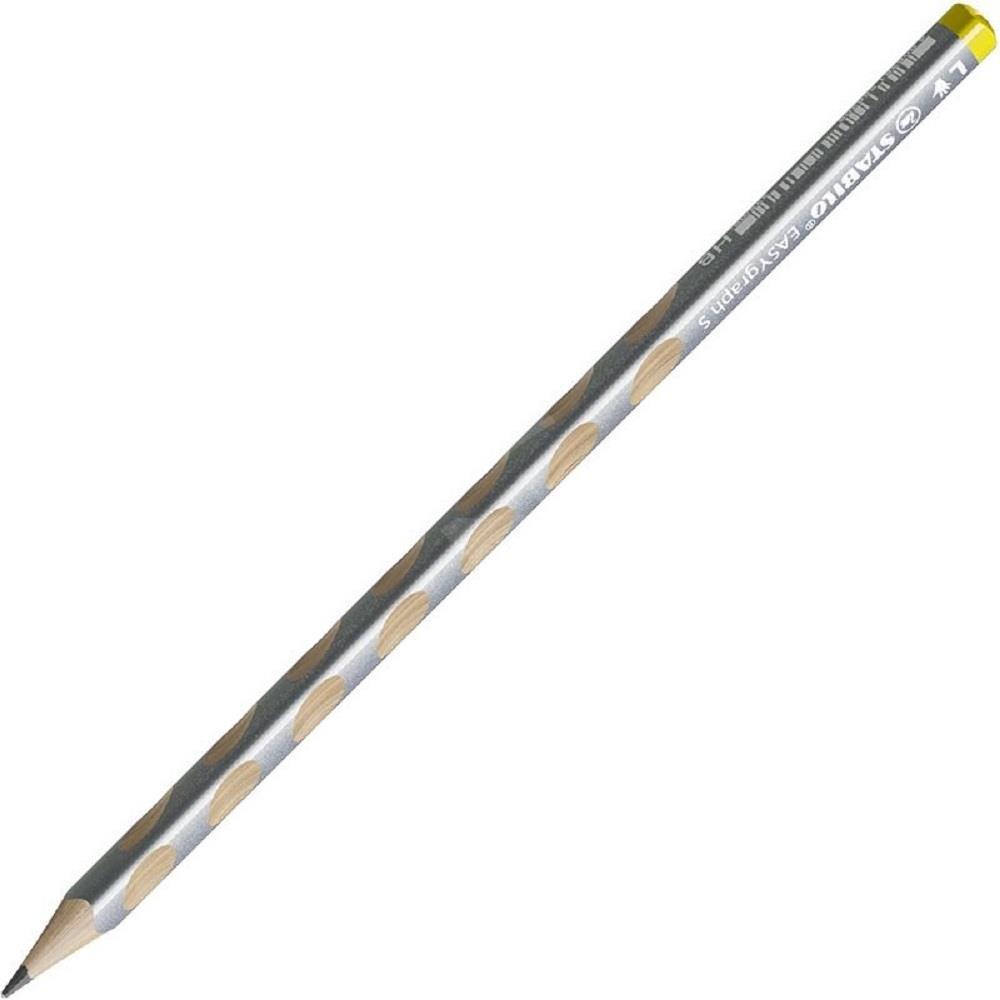 Μολύβι Stabilo easy graph slim 325 αριστερόχειρα ασημί