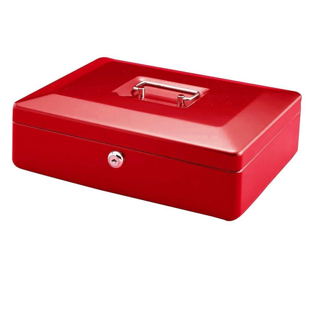 Χρηματοκιβώτιο φορητό ταμείο 11x25x36 cm κόκκινο