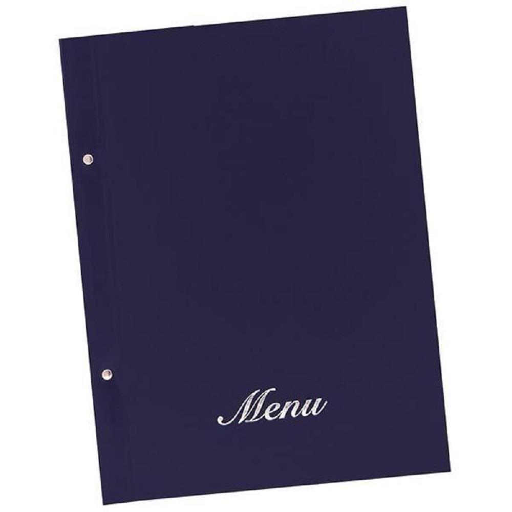 Κατάλογος εστιατορίου Α4 με βίδες basic μπλε