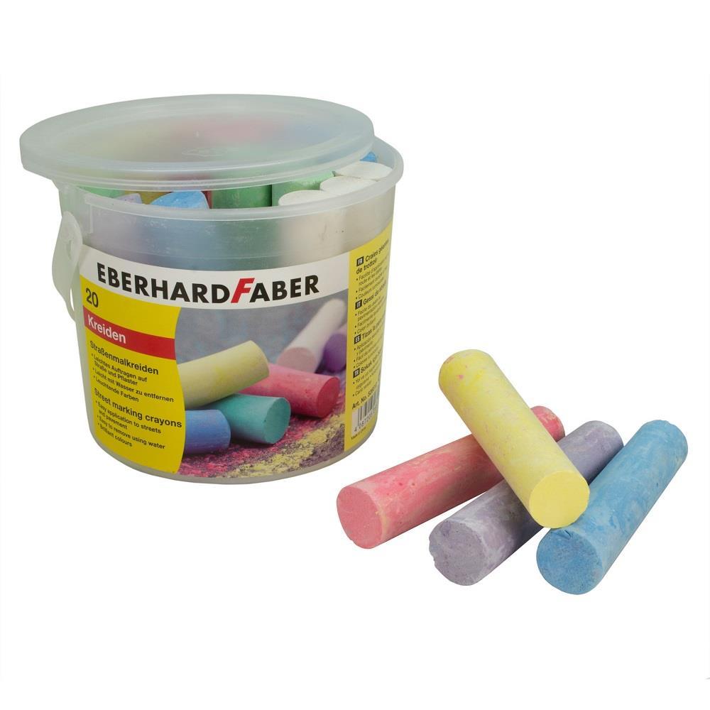 Κιμωλίες χρωματιστές μεγάλες Eberhard Faber 20 τεμ