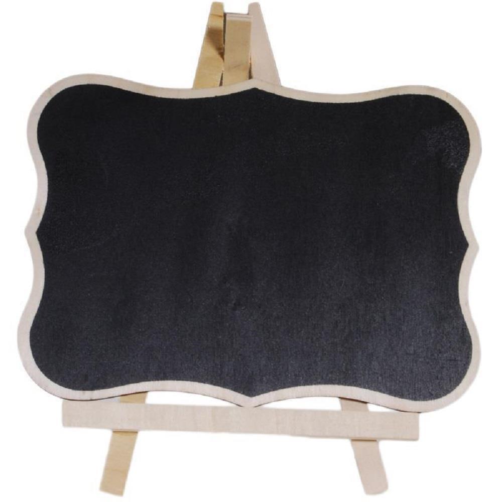 Πίνακας υγρής κιμωλίας ξύλινος με καμπύλες και μύτες 19,7x15 cm