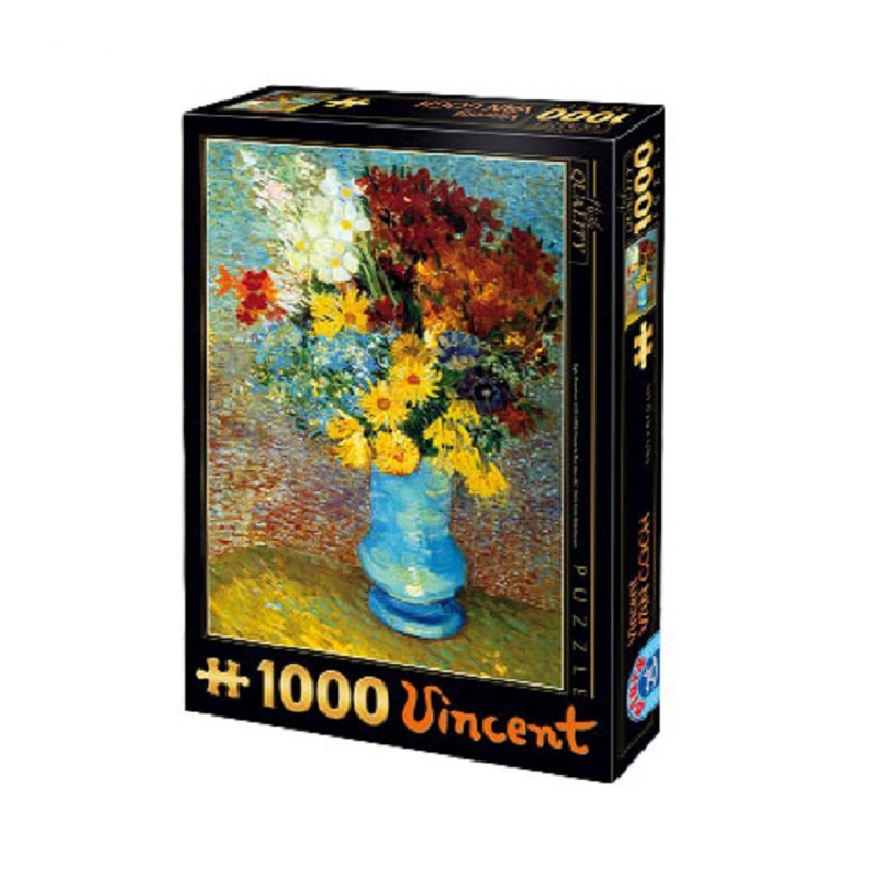 Παζλ D-Toys Van Gogh Fleurs Dans Un Vase Bleu 68x47cm 1000 κομ.