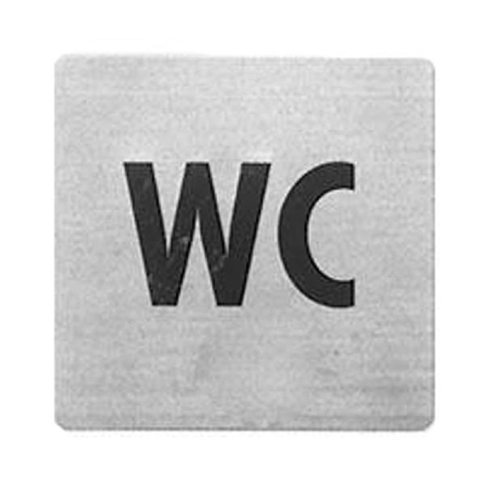 Πινακίδα inox Alco 450-5 WC