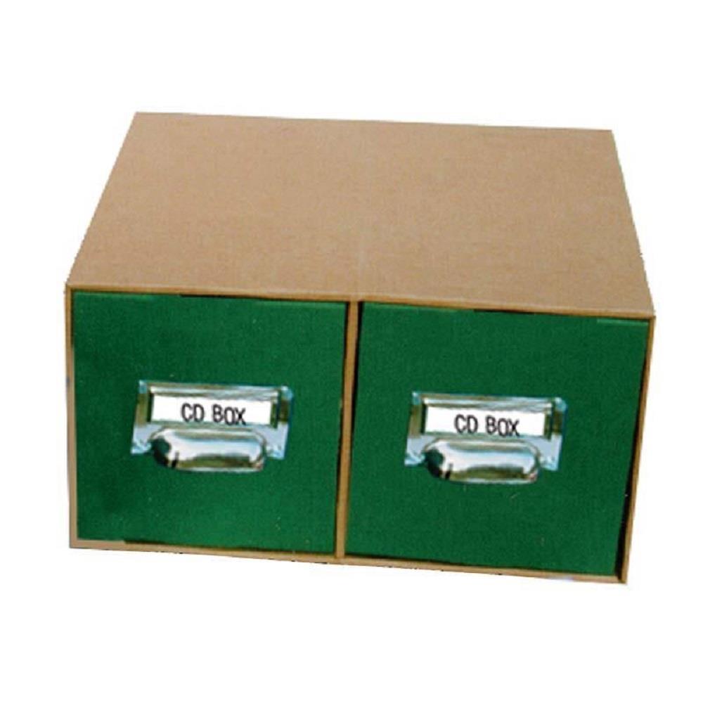 Κουτί αποθήκευσης CD-DVD με λαβές πράσινο