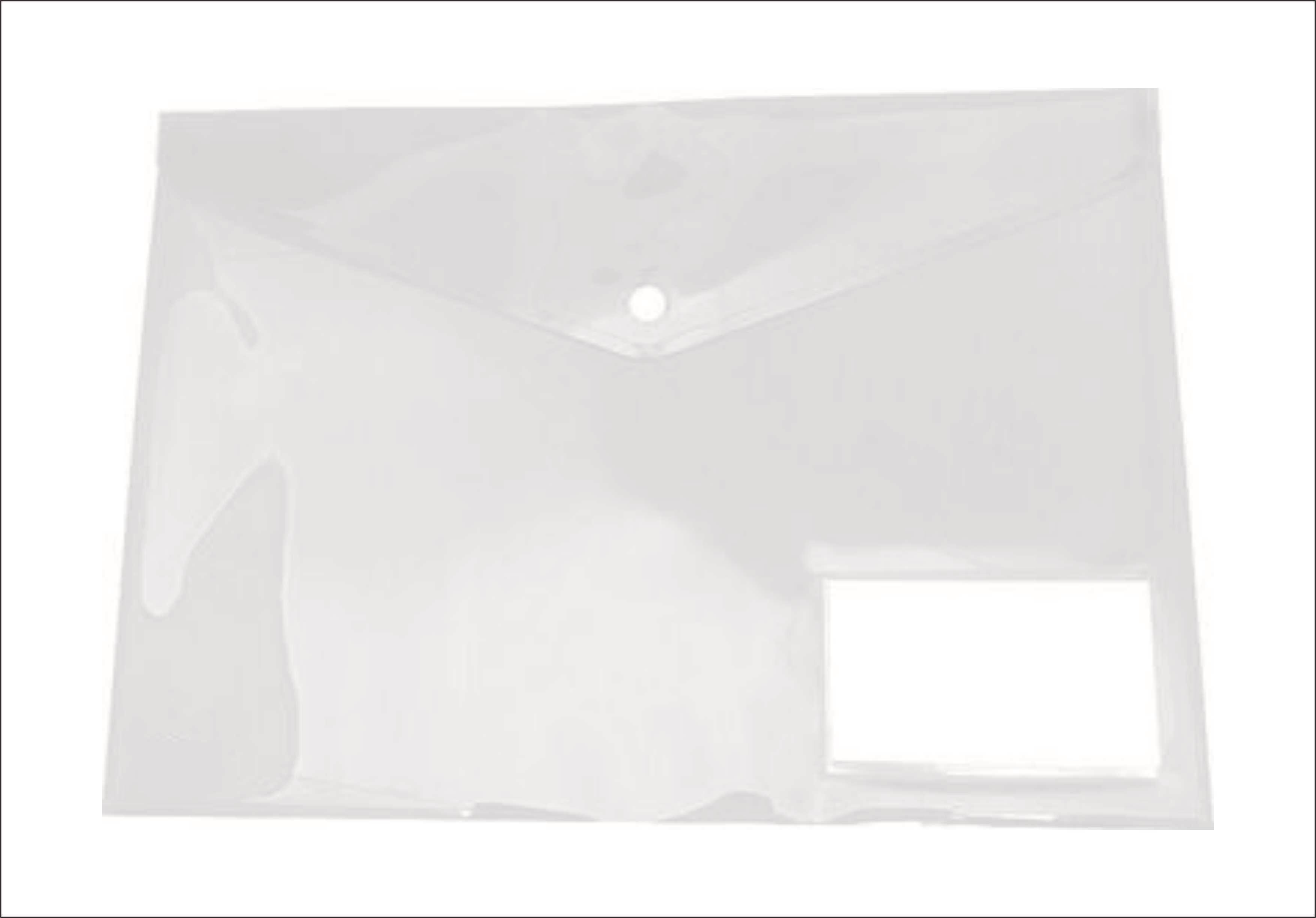 Ντοσιέ κουμπί Α4 με θήκη διάφανο