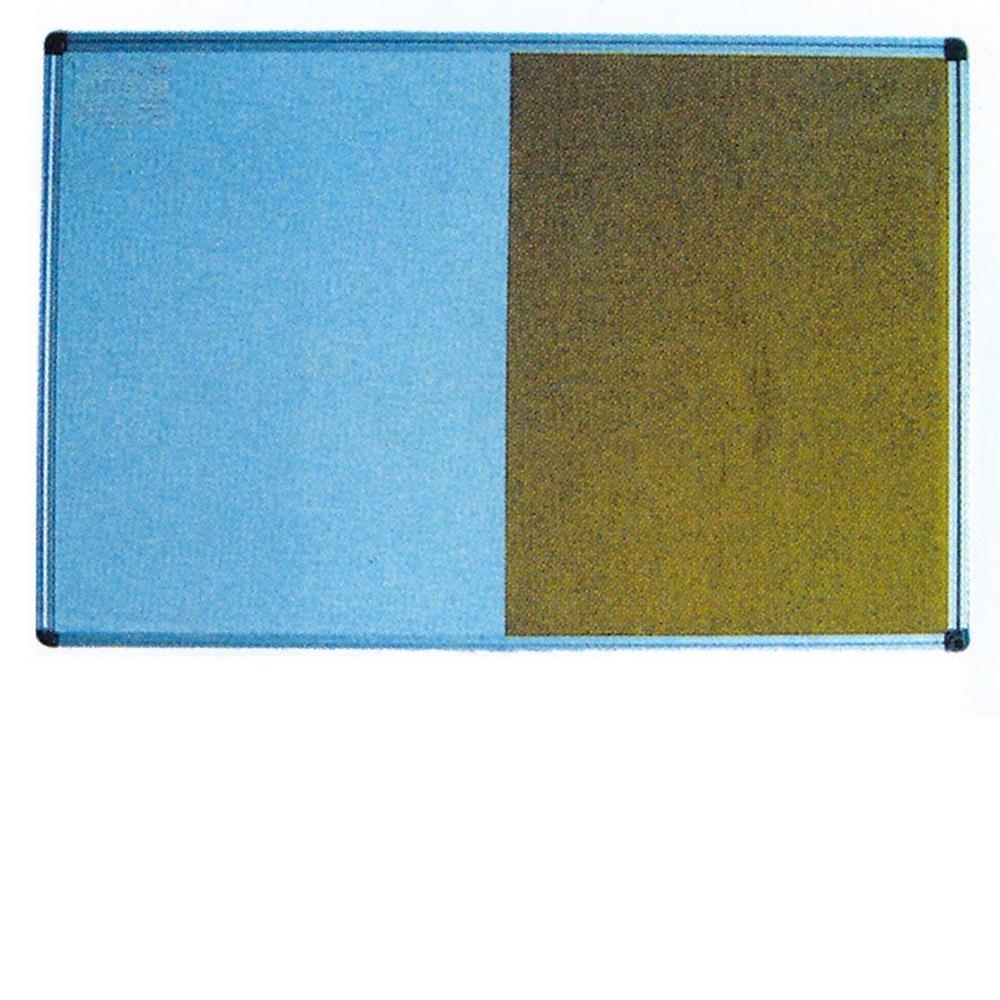 Πίνακας φελλού και λευκός 60x90 cm πλαίσιο αλουμινίου