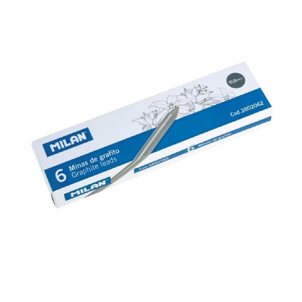 Μύτες μολυβιού 5,2 mm Milan B 6 τεμ.