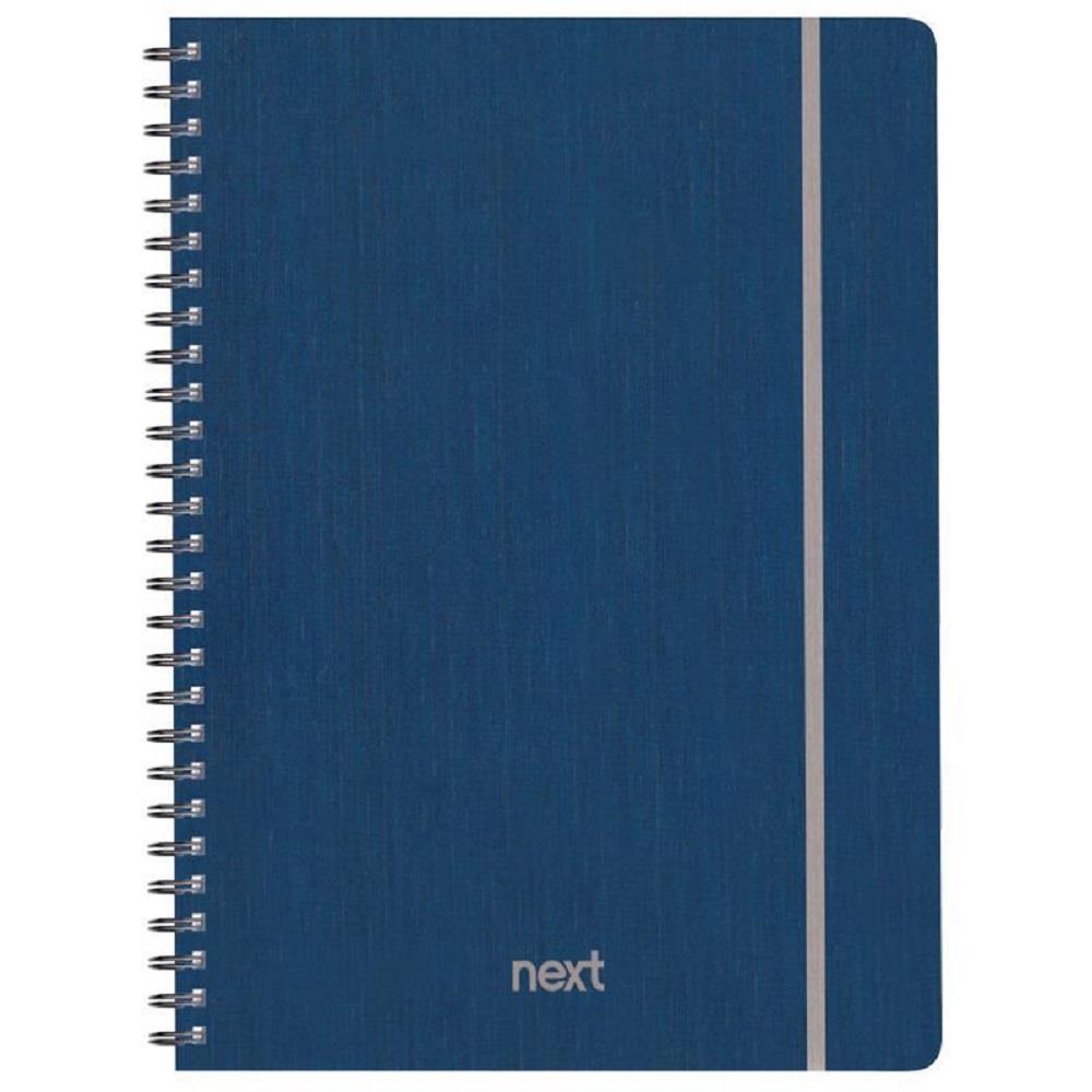 Τετράδιο σπιράλ 17x25 Fabric με λάστιχο 4 θεμάτων μπλε