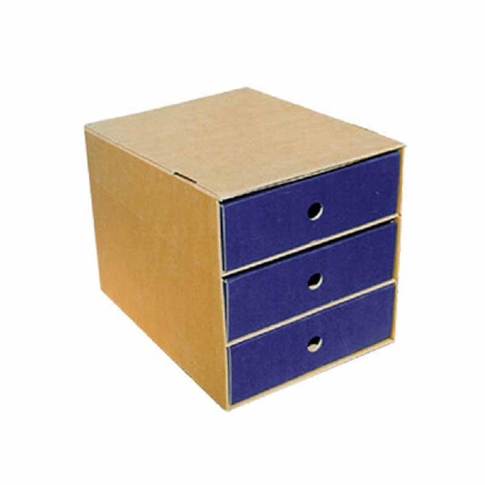 Συρταριέρα χάρτινη 3 θέσεων Next μπλε
