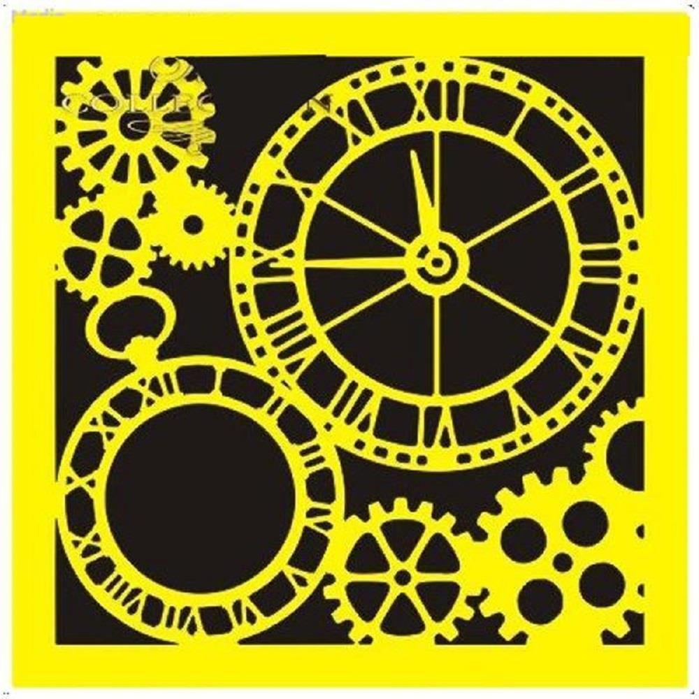 Στένσιλ πλαστικό Next 16x16 ρολόι ST0071B