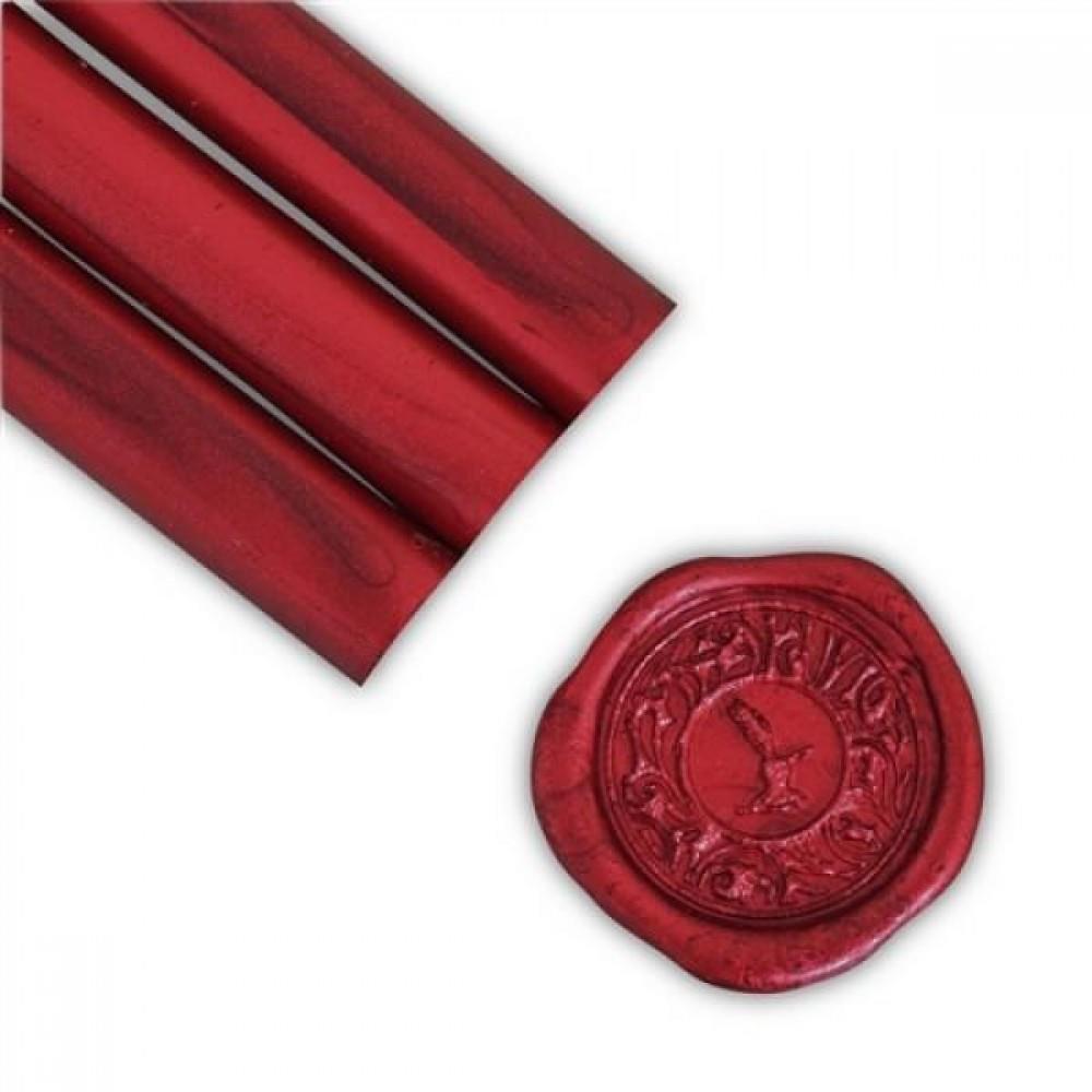 Βουλοκέρι στρογγυλό κόκκινο αντικέ 1 τεμάχιο