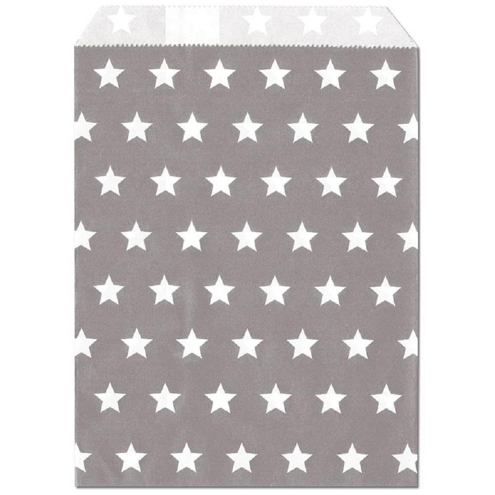 Σακουλάκι χάρτινο δώρου γκρι αστέρια Meyco 34834