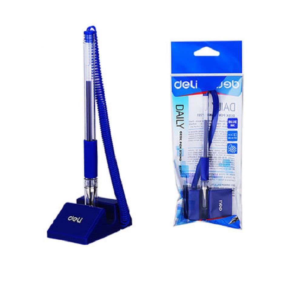 Στυλό γκισέ Deli E6791 μπλε με βάση blister daily