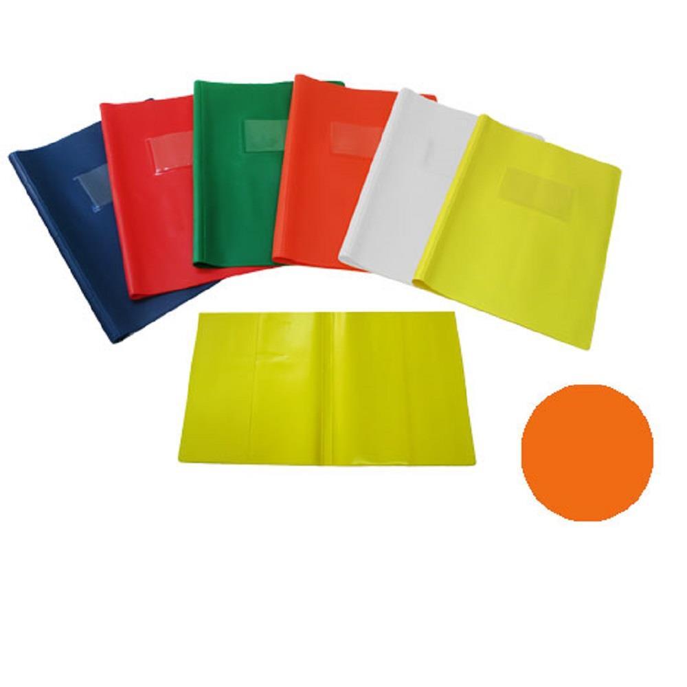 Κάλυμμα τετραδίου 17x25cm με θήκη πορτοκαλί
