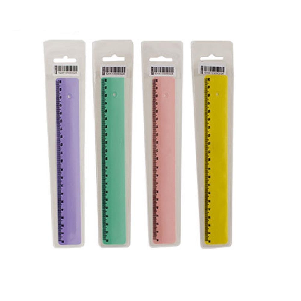 Χάρακας πλαστικός Metron 20 cm σε θήκη blister