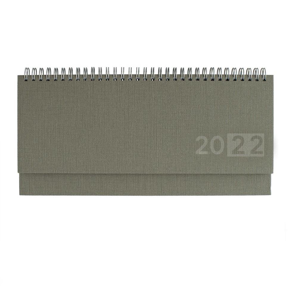 Ημερολόγιο 2022 σπιράλ 10x30 εβδομαδιαίο fibro λαδί