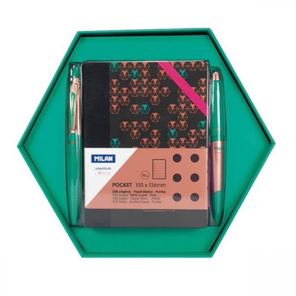 Σετ δώρου Milan copper green 3 τεμάχια 08741