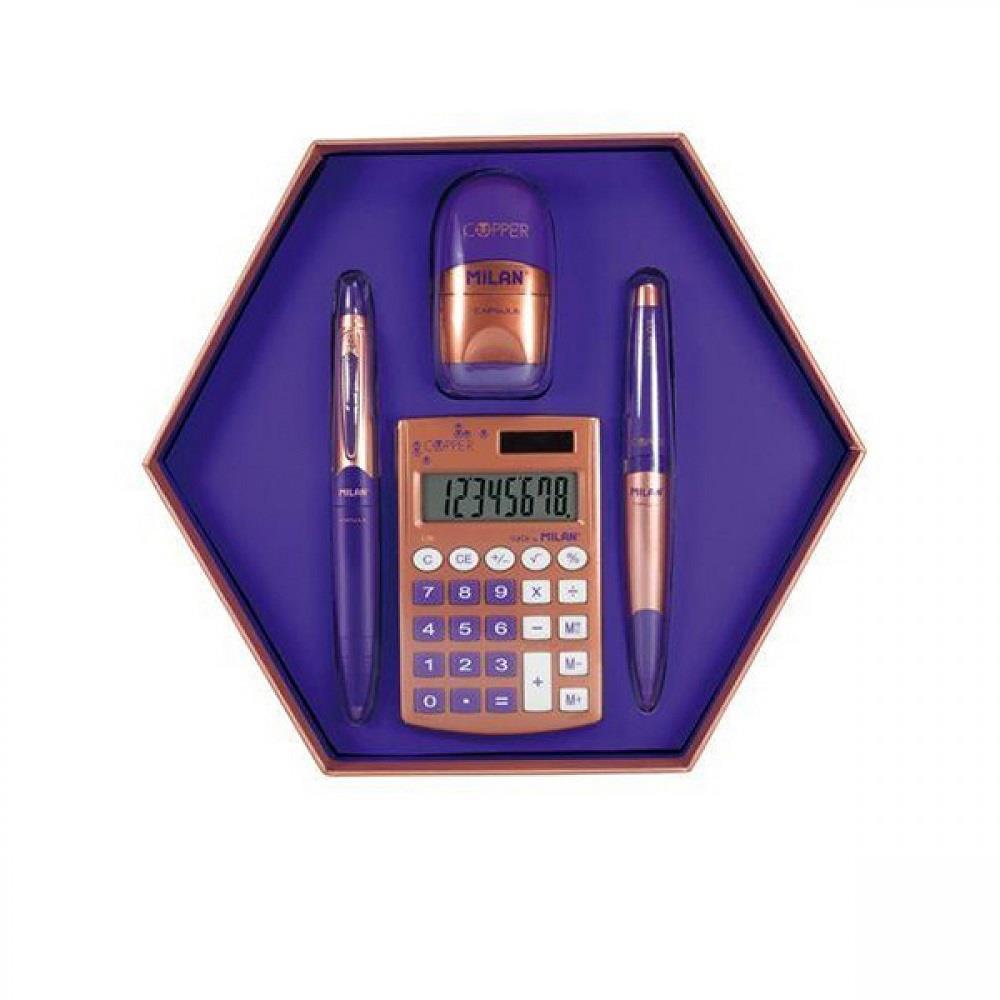 Σετ δώρου Milan copper blue 4 τεμάχια 08740
