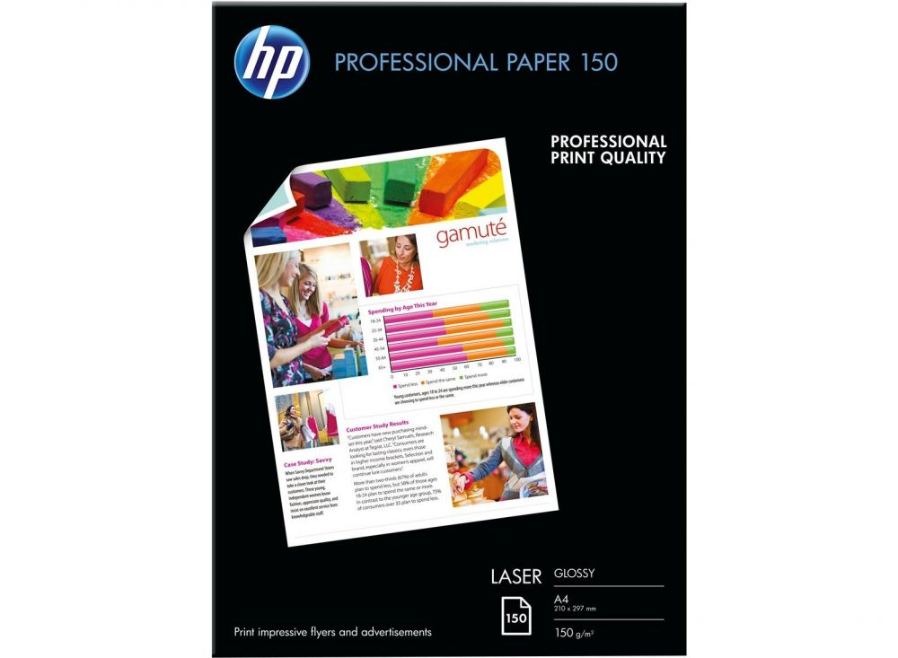 Professional Glossy Laser Paper HP A4 150sht 150g
