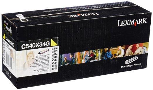 Developer Laser Lexmark C540X34 Yellow Unit - 30K Pgs