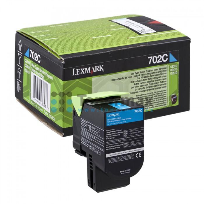 Toner Laser Lexmark 70C20C0 Standard Cyan -1k Pgs