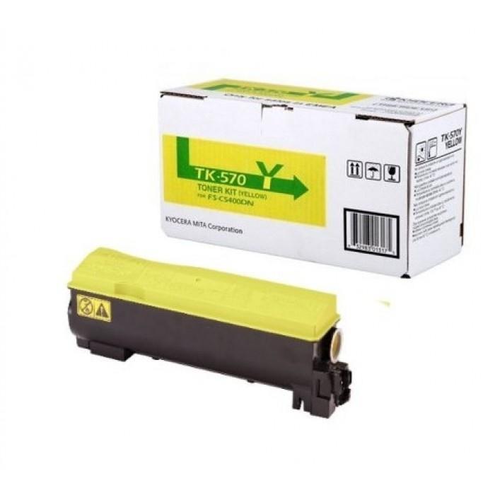 Toner Laser Kyocera Mita TK-570Y Yellow - 12K Pgs