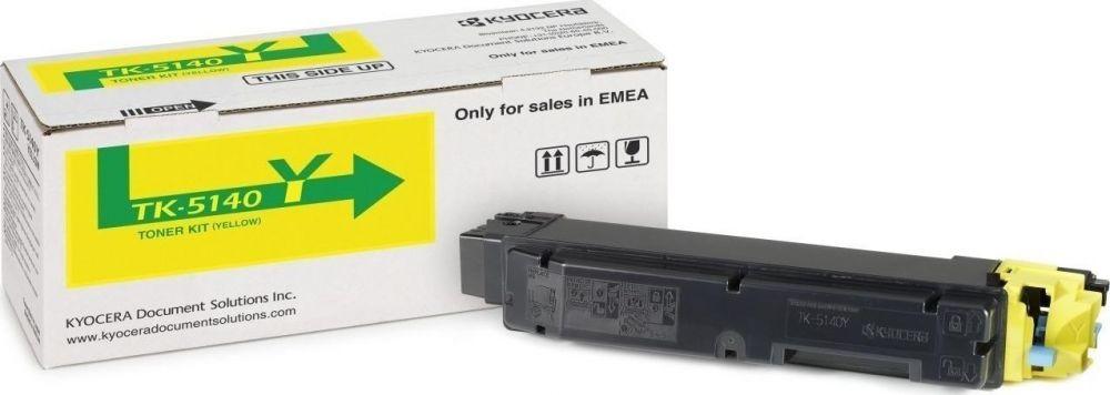 Toner Laser Kyocera Mita TK-5140Y Yellow - 5K Pgs
