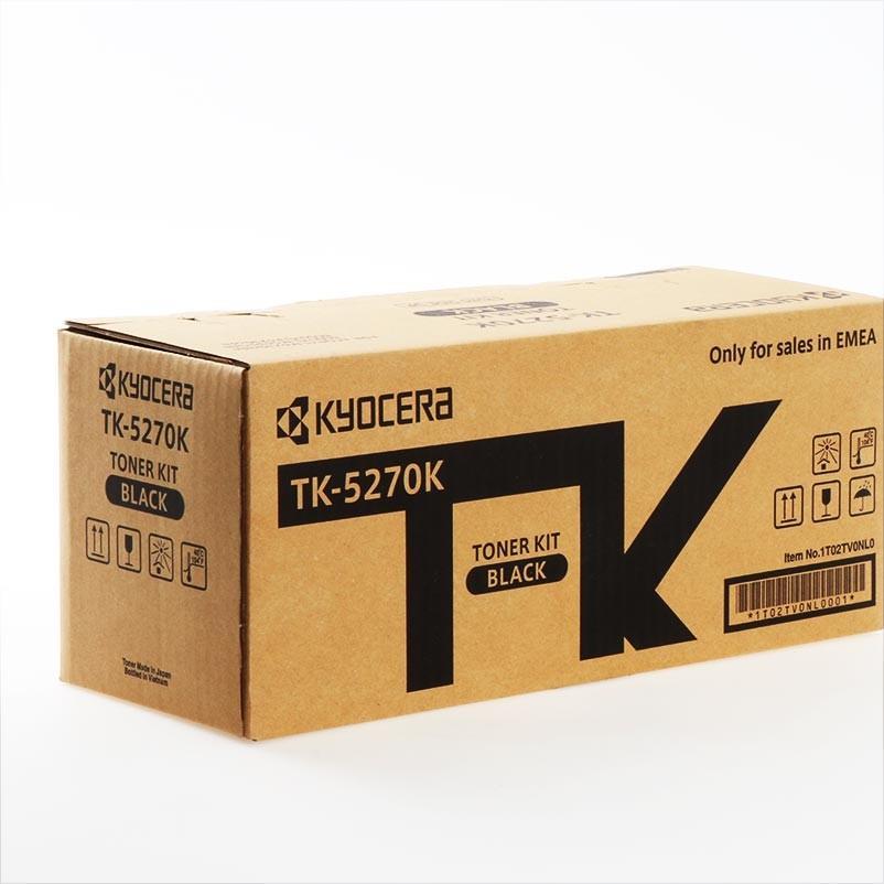 Toner Laser Kyocera Mita TK-5270K Black - 8K Pgs