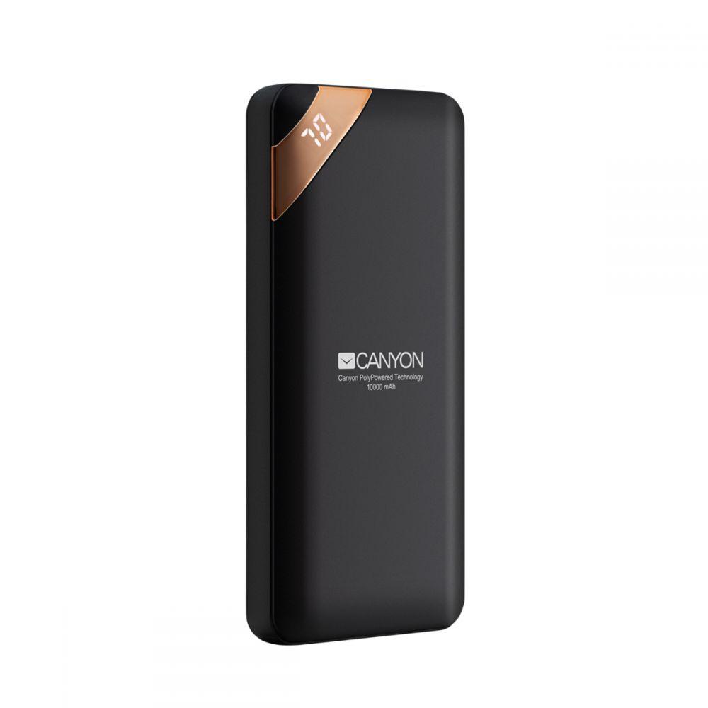 Canyon Compact power bank, digital display 10000 mAh BLK - CNE-CPBP10B