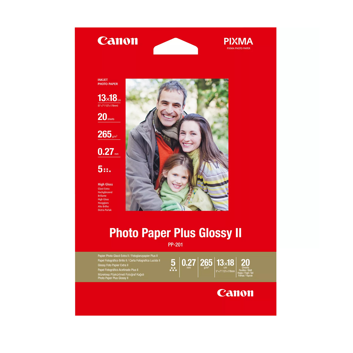 Paper Canon PP-201 Glossy II Photo Paper Plus  5x7
