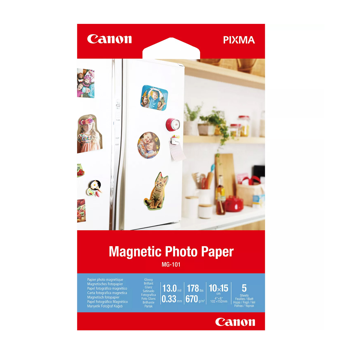 Paper Canon MG-101 Magnetic Photo, 4x6