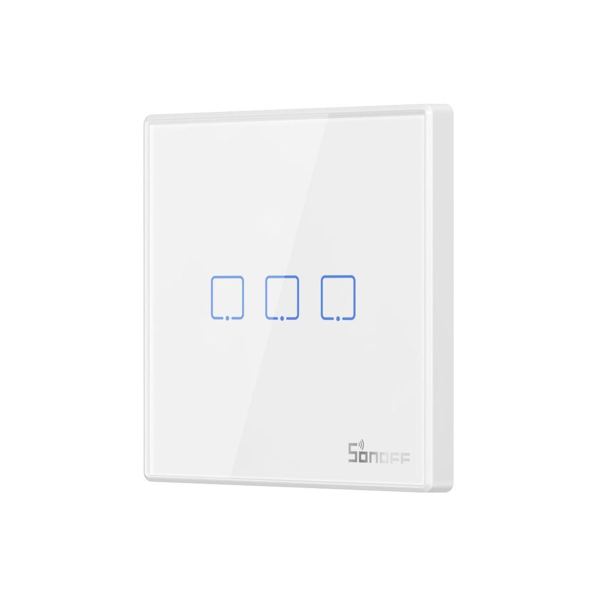 Sonoff T2EU3C-RF Sticky Wireless Smart Wall Switch 3-Channel, RF, Διακόπτης Τοίχου - M0802030011