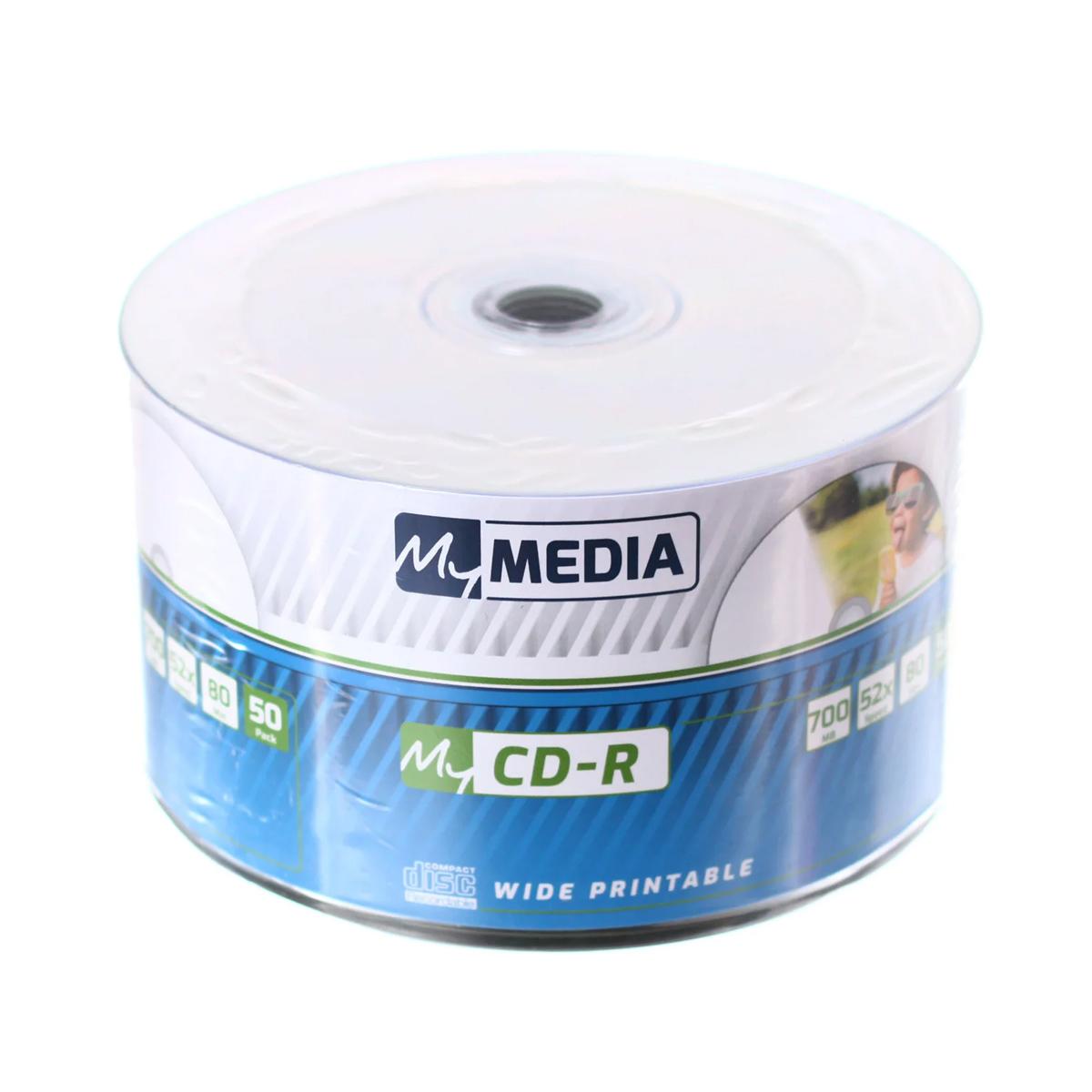 CDR 52X 50PK Wrap 700MB - Wide Printable (by Verbatim) - 69206