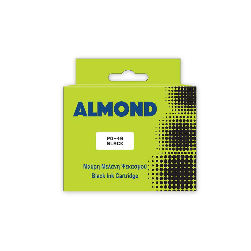 ALMOND INK ΣΥΜΒ. ΜΕ CANON #PG-40 BLK 16ml (A) #0615B001