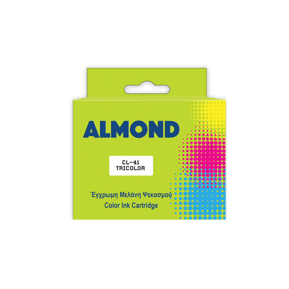 ALMOND INK ΣΥΜΒ. ΜΕ CANON #CL-41 TRICOLOR 24ml (A) #0617B001