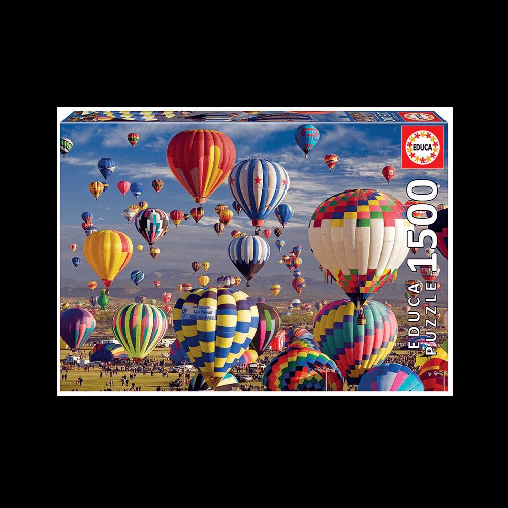 EDUCA ΠΑΖΛ 1500Τ. 85x60cm HOT AIR BALLOONS