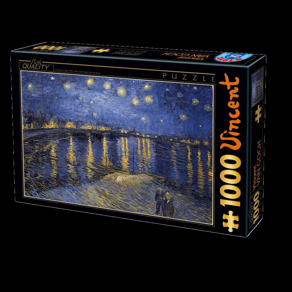 DTOYS ΠΑΖΛ 1000Τ 68x47cm STARRY NIGHT OVER THE RHONE 66916VG11