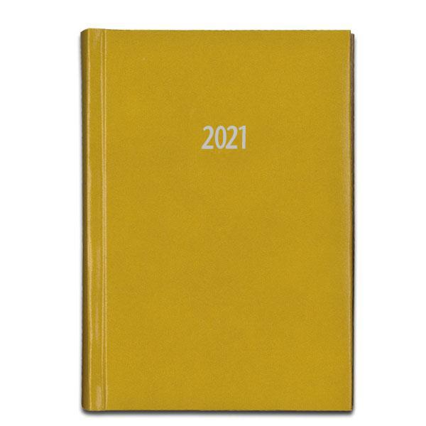 Next ημερολόγιο ημερήσιο δετό prestige μουσταρδί 17x25εκ.