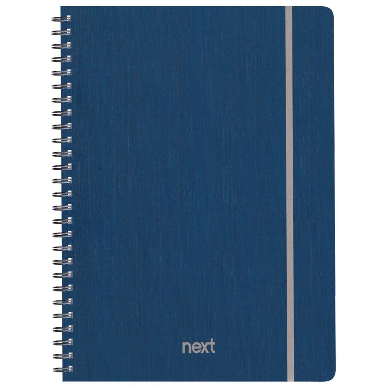 Next fabric τετρ. σπιράλ λαστ. μπλε 21x29εκ. 105φ. 3θ