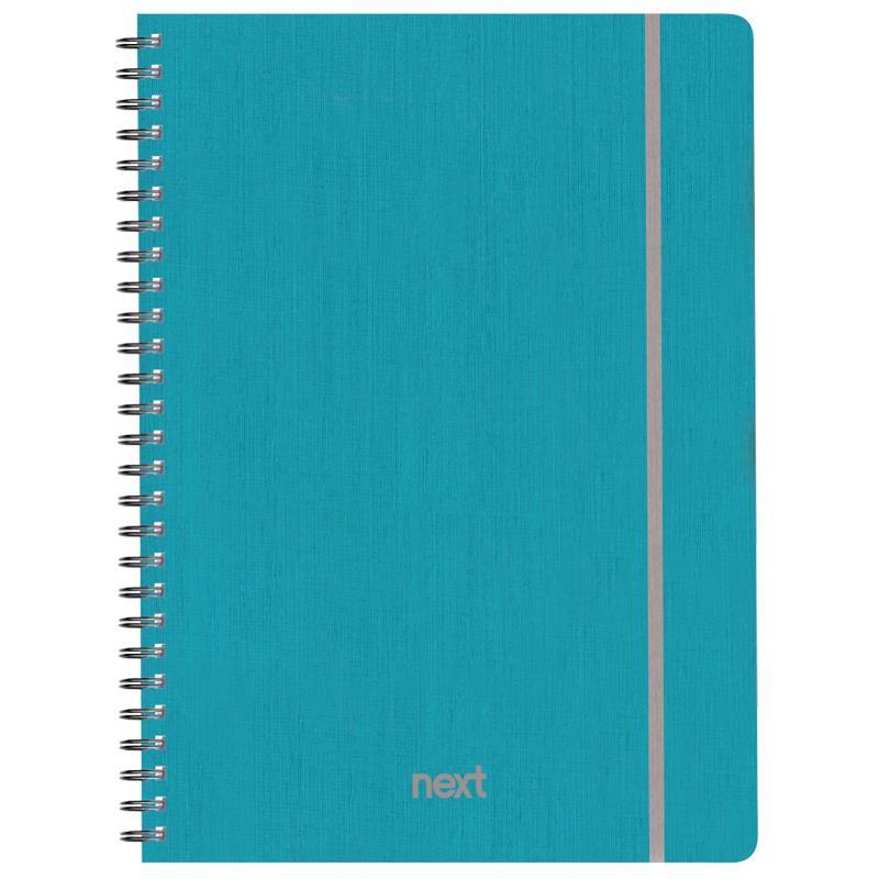 Next fabric τετρ. σπιράλ λαστ.γαλάζιο 21x29εκ. 105φ. 3θ