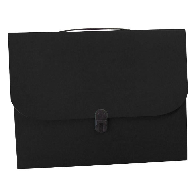 Next τσάντα συνεδρίων με κούμπωμα classic μαύρη Υ36x28x4εκ.
