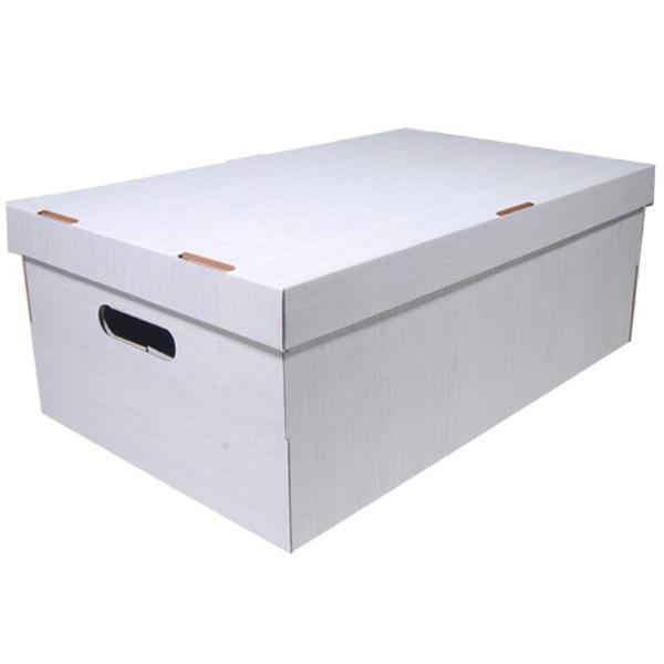 Νext κουτί fabric λευκό Α3 Υ19x50x31εκ.