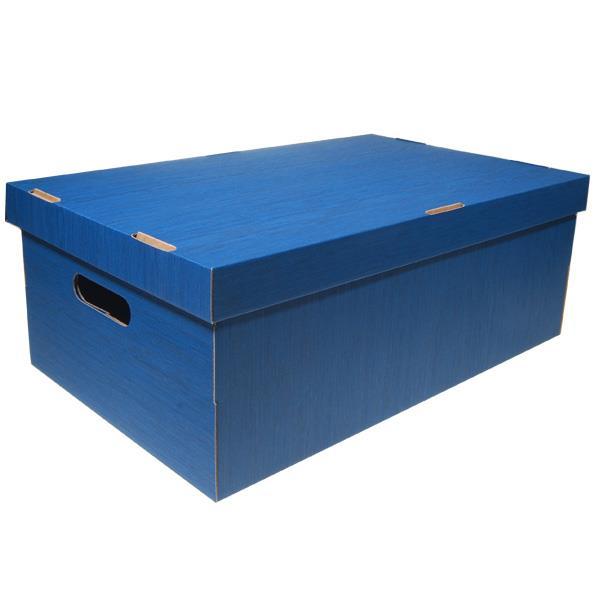 Νext κουτί fabric μπλε Α3 Υ19x50x31εκ.