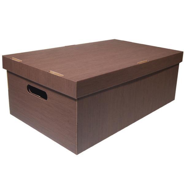 Νext κουτί fabric καφέ Α3 Υ19x50x31εκ.
