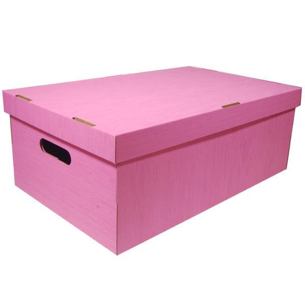Νext κουτί fabric ροζ Α3 Υ19x50x31εκ.
