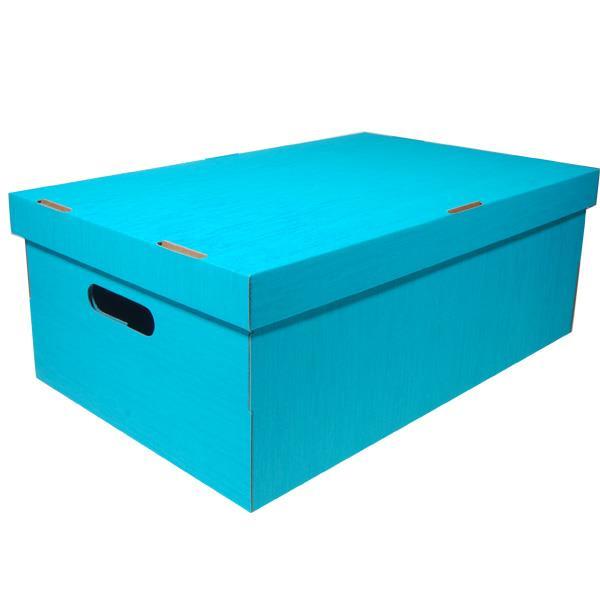 Νext κουτί fabric γαλάζιο Α3 Υ19x50x31εκ.