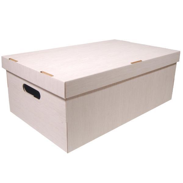 Νext κουτί fabric μπεζ Α3 Υ19x50x31εκ.